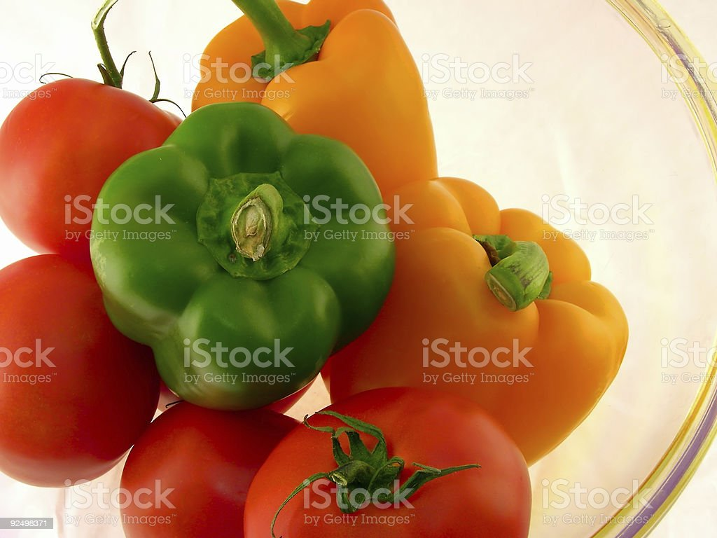 peppers and tomatoes royalty-free stock photo
