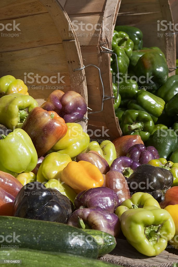 Peppers at Market stock photo