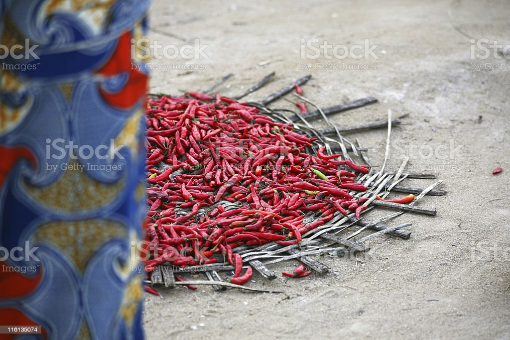 peppers for sale royalty-free stock photo