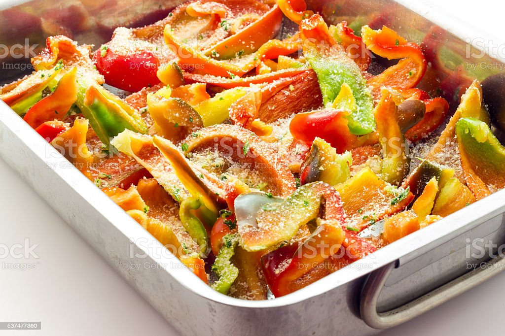 Peppers gratin stock photo