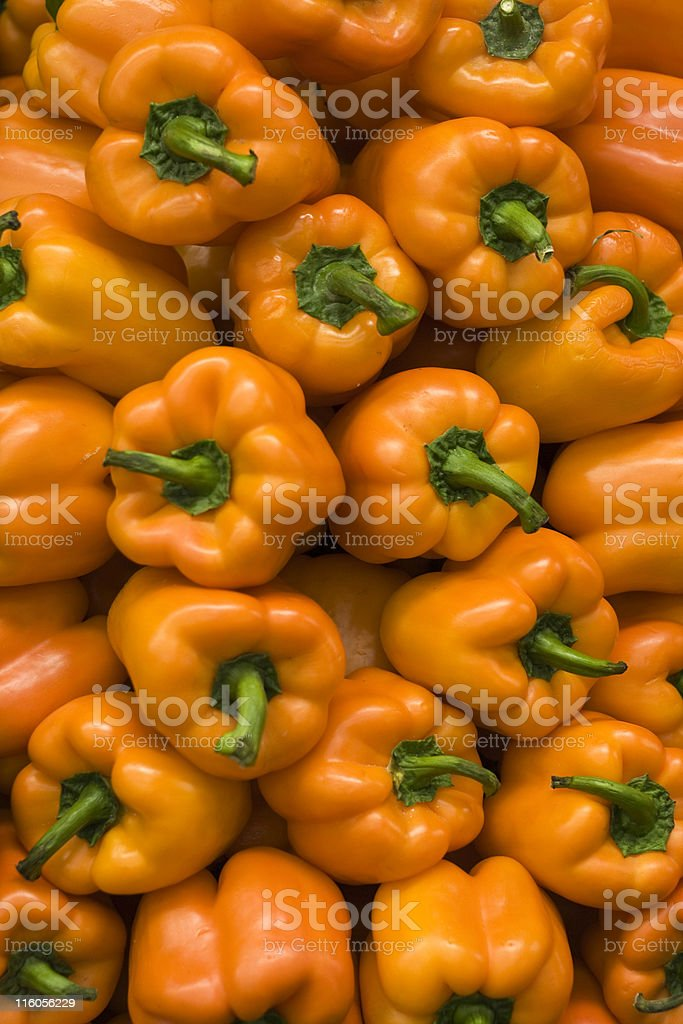 Peppers in the Market stock photo