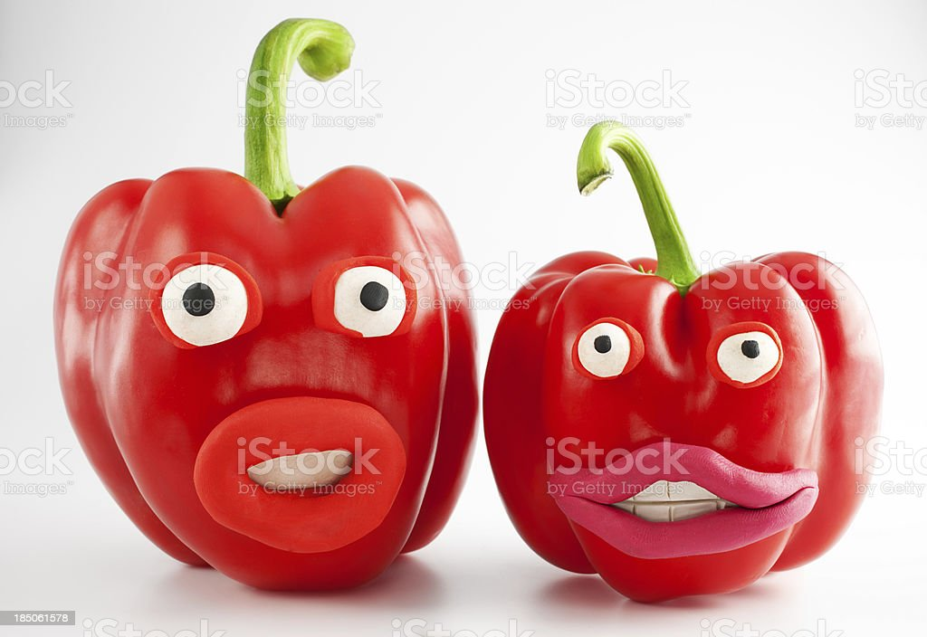 Peppers portrait royalty-free stock photo
