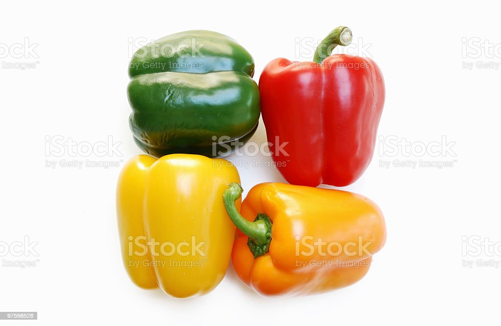 Peppers Squared royalty-free stock photo