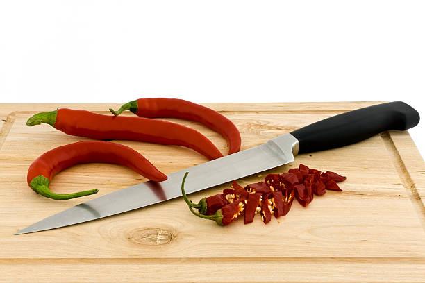 Peppers mit Messer – Foto
