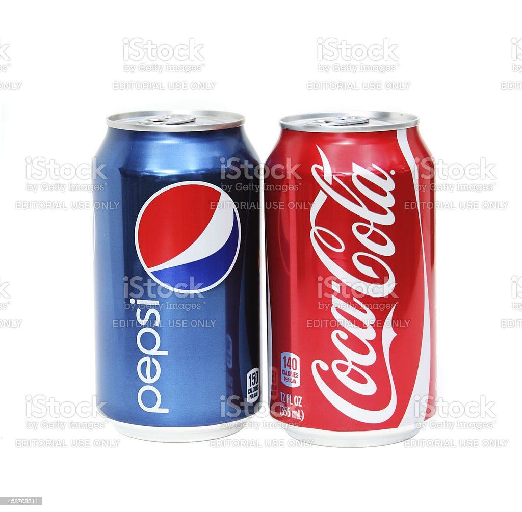 Pepsi Und Cocacola Erfrischungsgetränke Getränke Drinks Stock ...