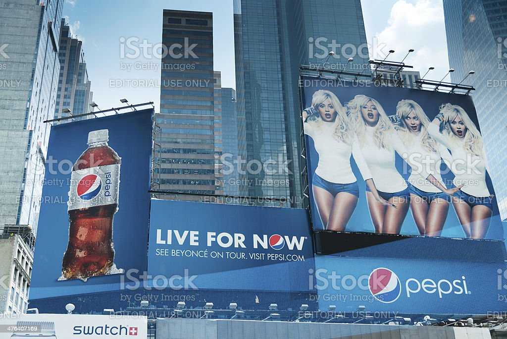 Pepsi billboards at Times Square stock photo