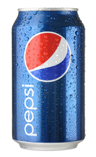 Colorado Springs, Colorado, USA - January 10, 2012: A can of Pepsi with water droplets shot in the studio and isolated on a white background. Invented in 1898, Pepsi-Cola continues to be one of the world's most popular soft drinks to this day.