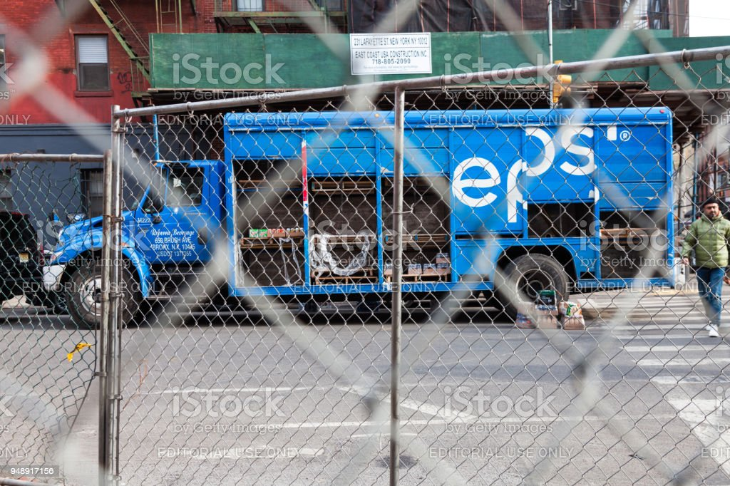 Pepsi truck on street of New York City