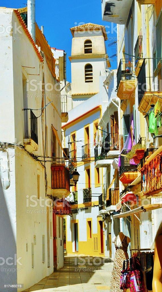 Per le vie di Ibiza stock photo
