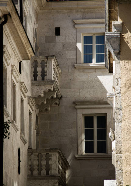 Perast architecture stock photo