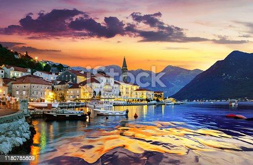 istock Perast in Bay of Kotor 1180785809