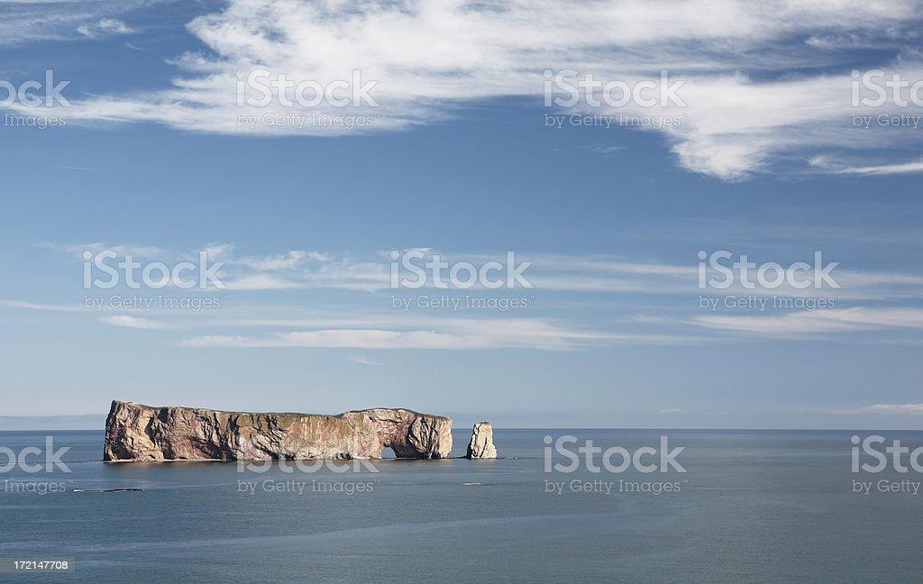 Perce Rock stock photo