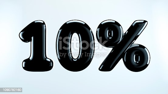 istock 10 percent abstract sale sign, holiday illustration. Black friday. 1090782160