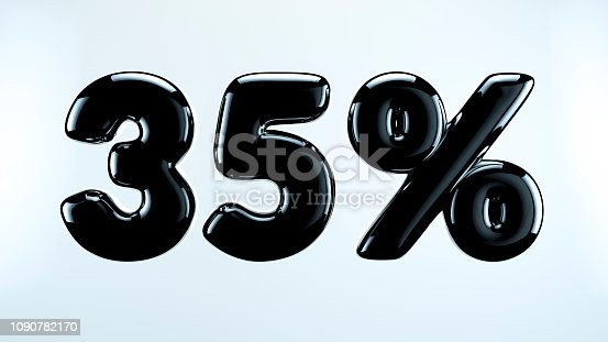 istock 35 percent abstract sale sign, holiday illustration. Black friday. 1090782170