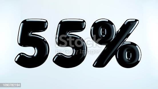 istock 55 percent abstract sale sign, holiday illustration. Black friday. 1090782194