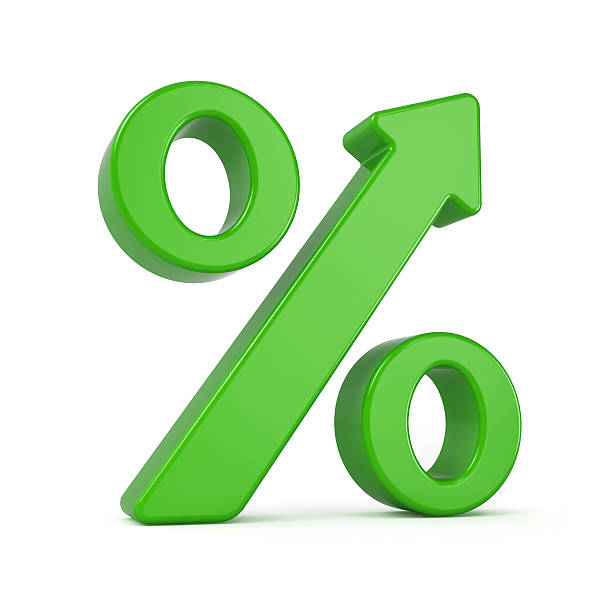 Percent Arrow Growth Sign stock photo