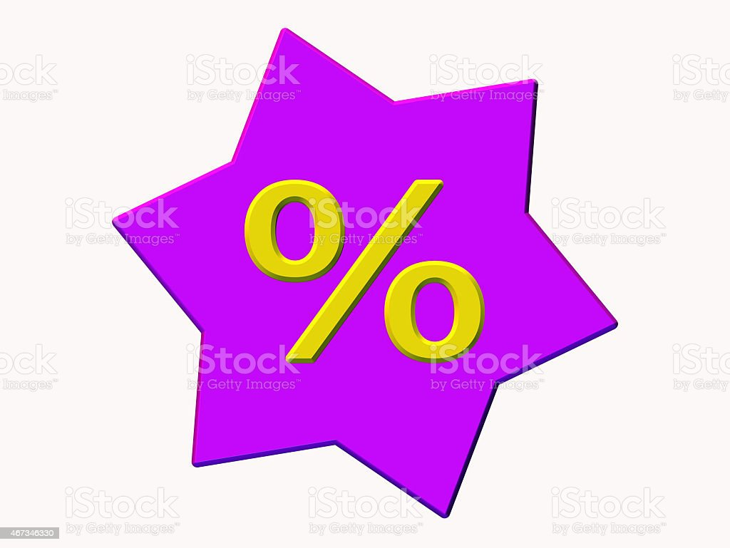 Percent - characters in star stock photo