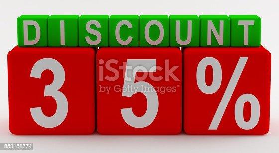 istock 35 percent discount Cubes and 3D Text Blocks 3d design 853158774