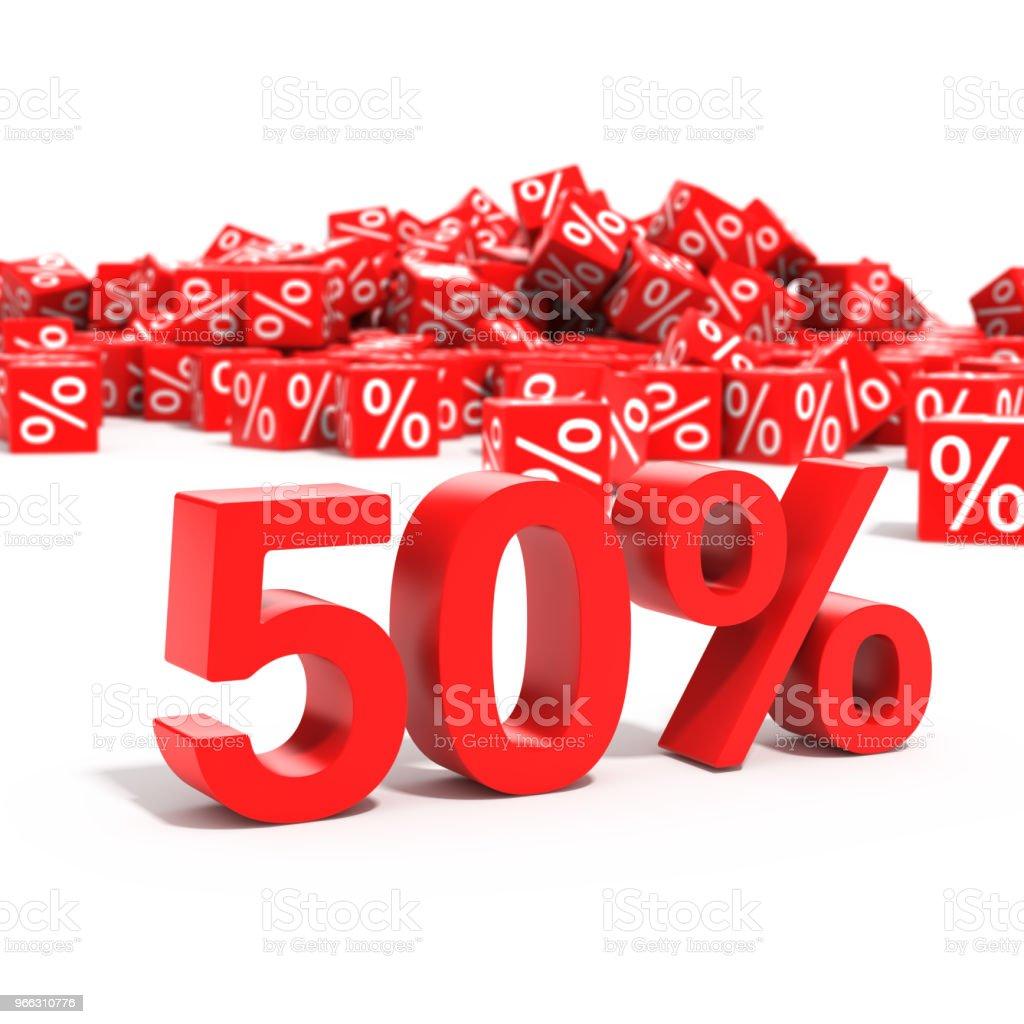 50 percent discount in focus stock photo