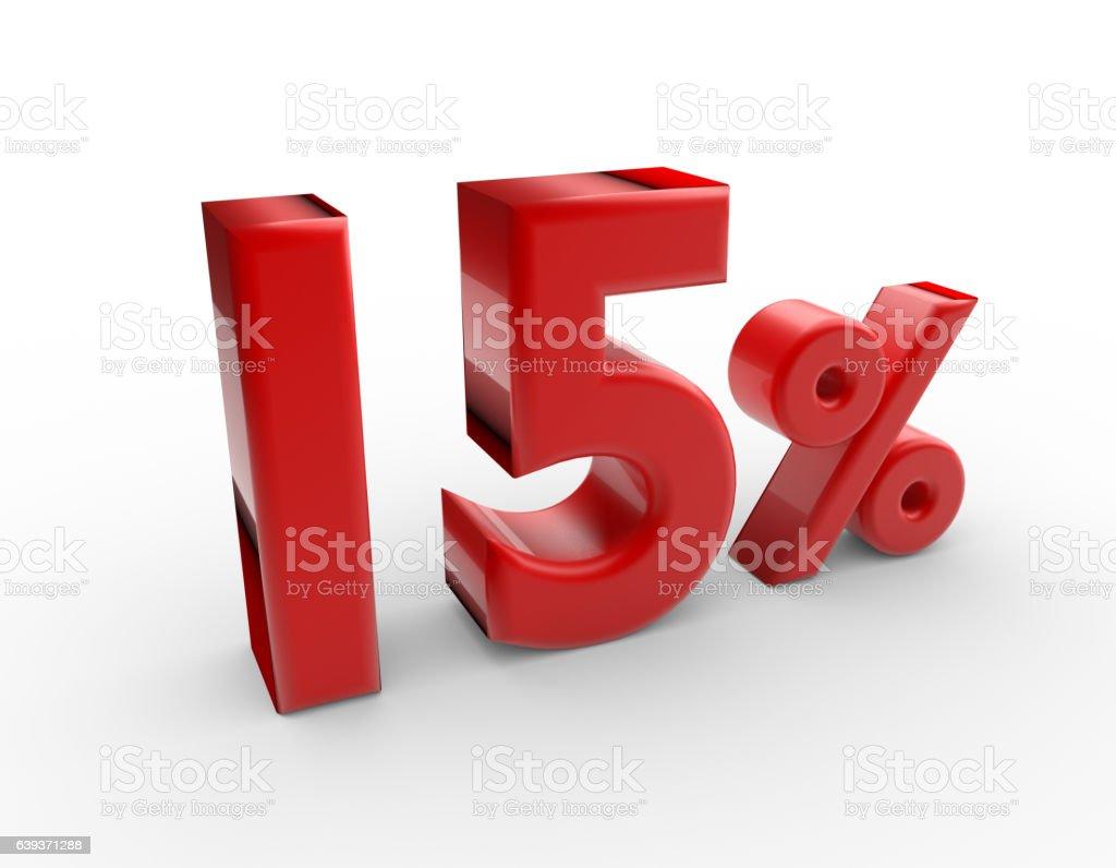 15 percent discount stock photo