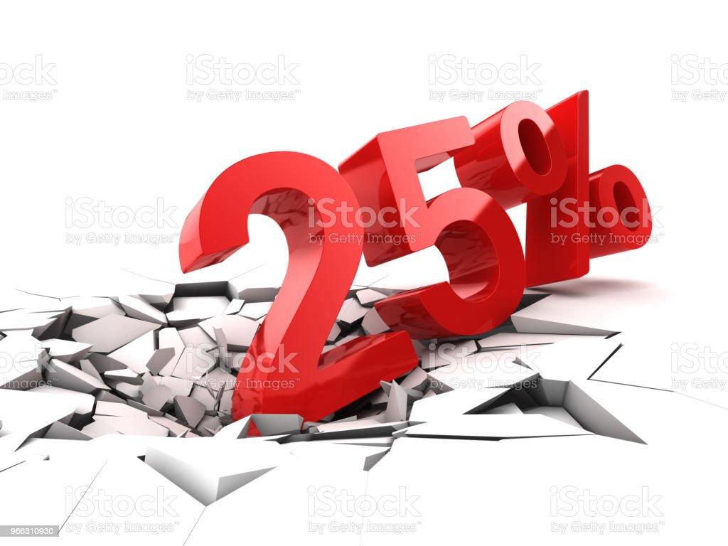 25 percent discount stock photo
