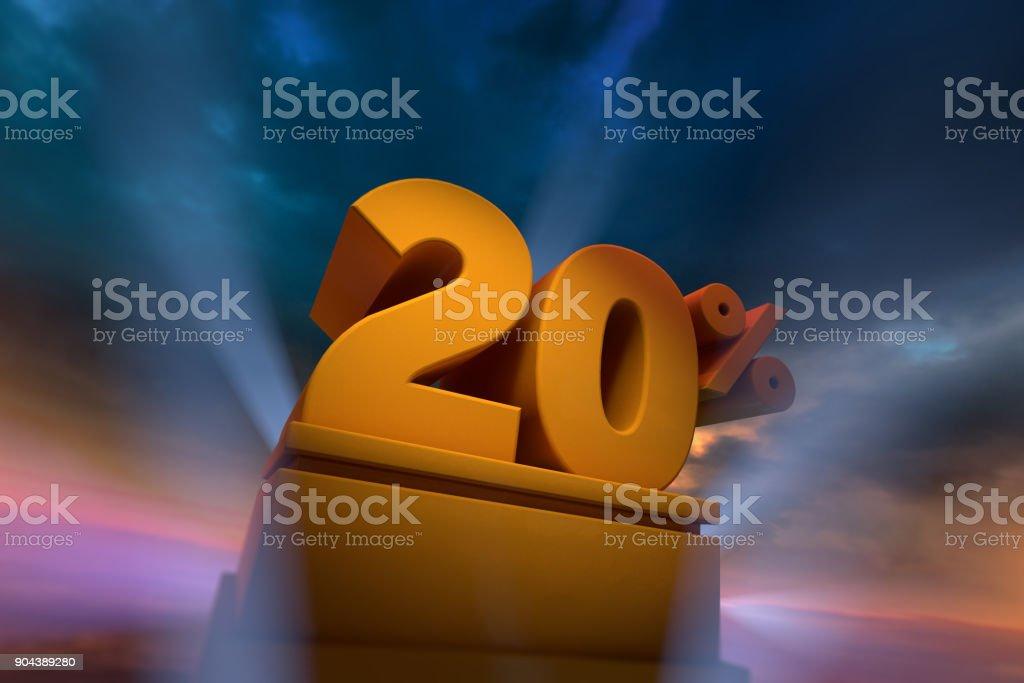 20 Percent Highlight stock photo