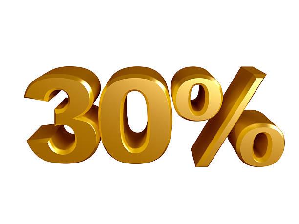 Icône de 30 % pour cent - Photo