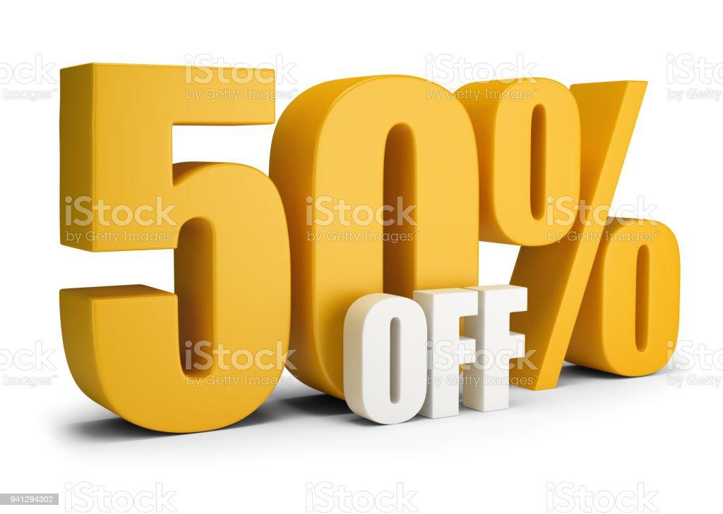 50 percent OFF стоковое фото