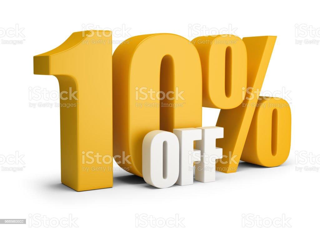 10 percent OFF стоковое фото