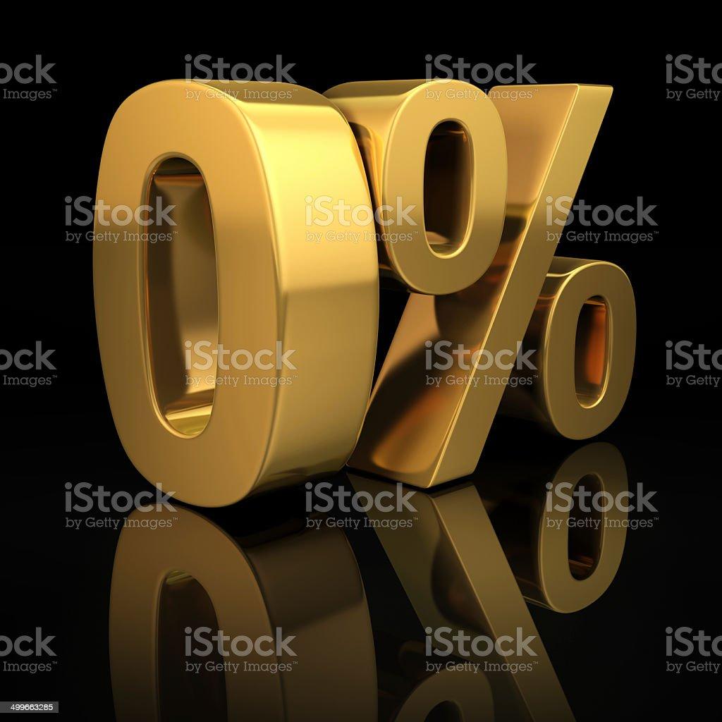 0 percent on black stock photo