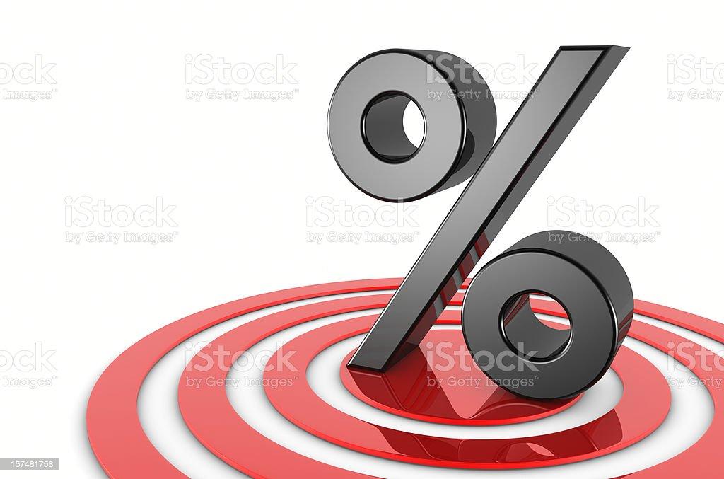Percent On Target stock photo