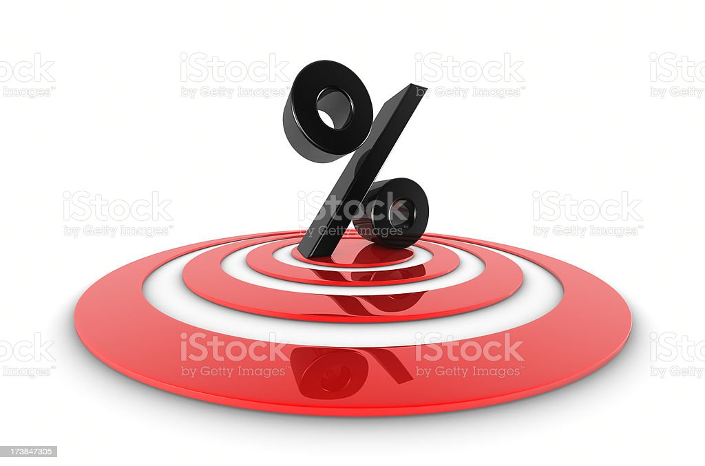 Percent On Target royalty-free stock photo