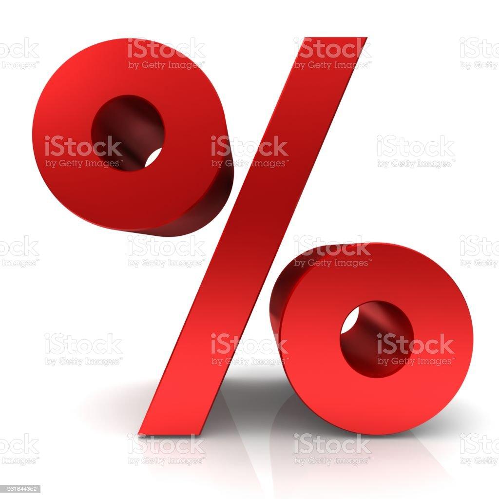 c0e254d37 porcentaje porcentaje firmar venta símbolo 3d rojo descuento icono rebaja  tasa de interés ahorro plantilla negocio