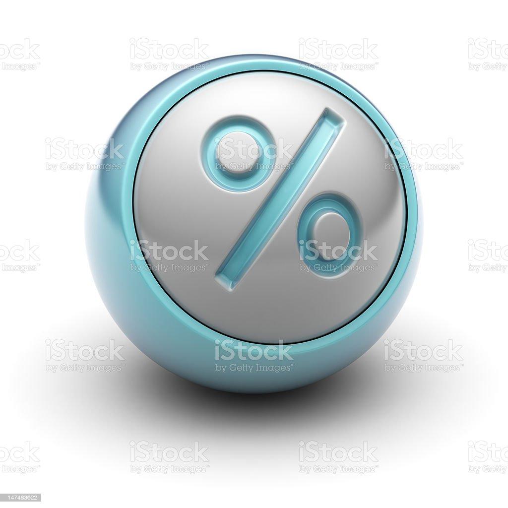 Percent royalty-free stock photo