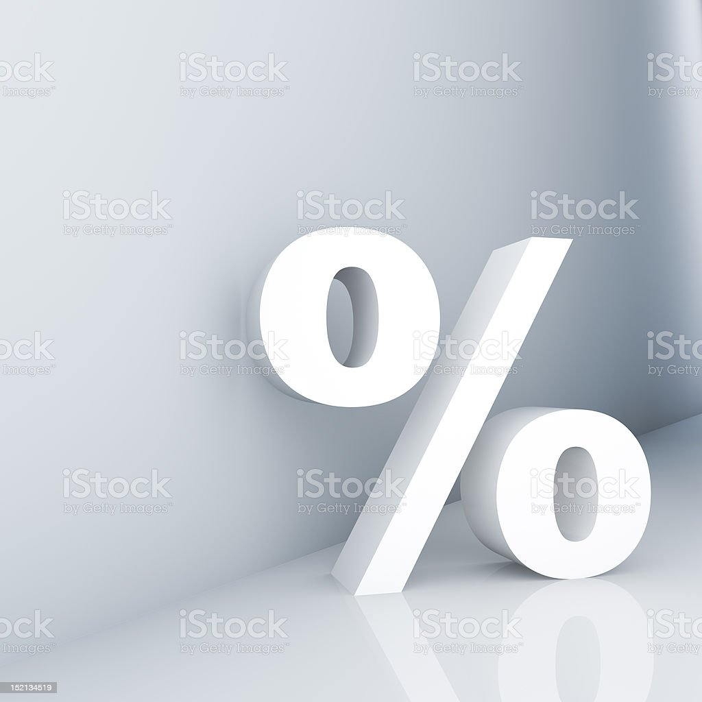 Percent stock photo