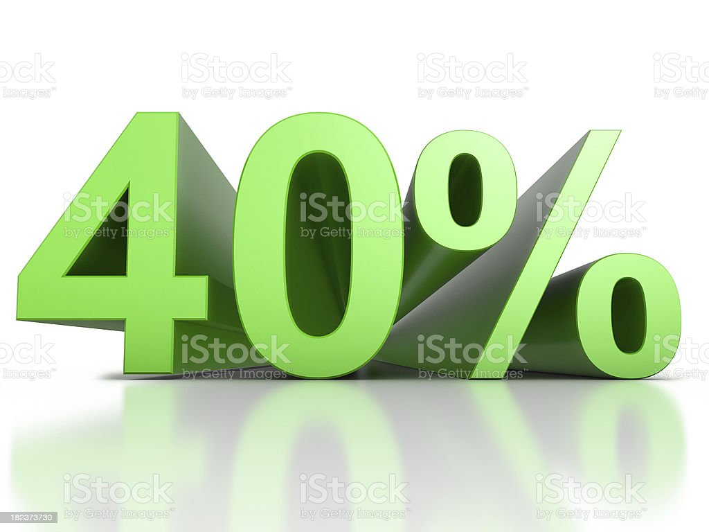40 Percent royalty-free stock photo