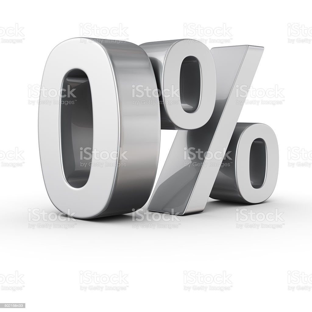 0 percent stock photo