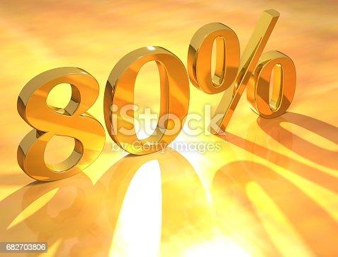 istock Percent % 682703806