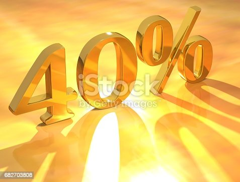 istock Percent % 682703808