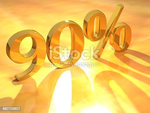 istock Percent % 682703822