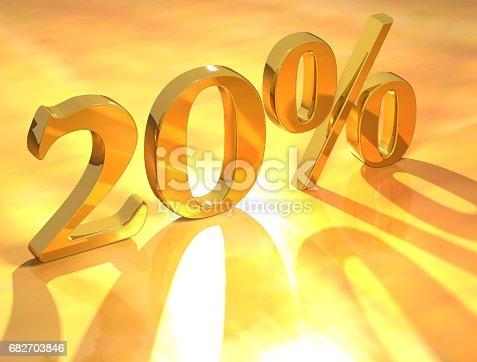 istock Percent % 682703846