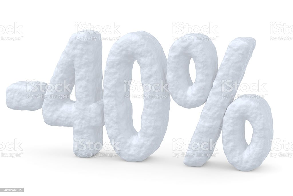 40 percent price cut off christmas offer stock photo