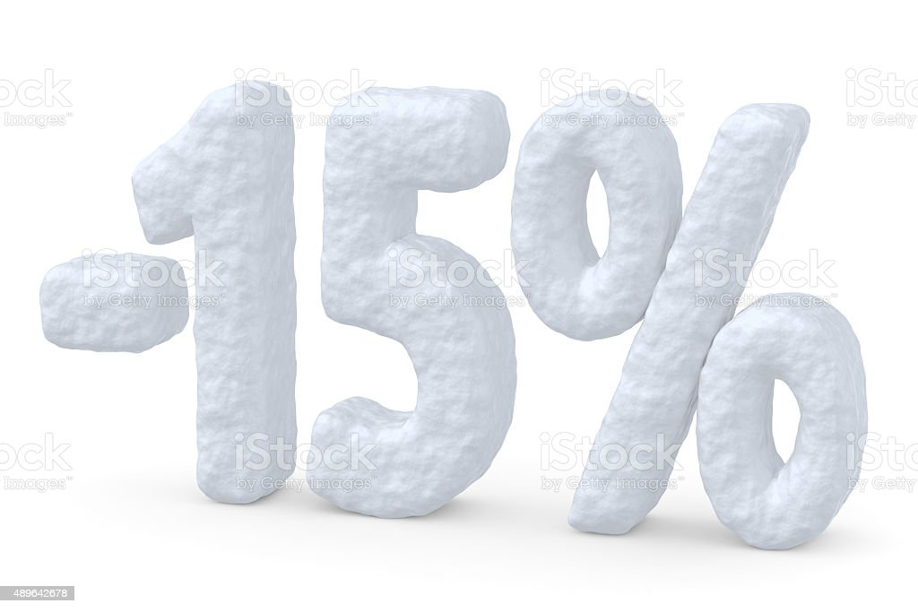percent price cut off christmas offer stock photo