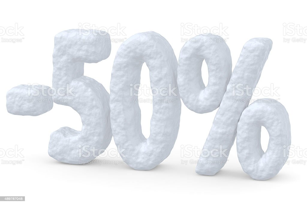 50 percent price cut off christmas offer stock photo