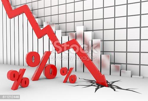 istock Percent sign crash 511212446