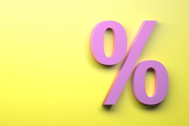 Percent sign stock photo