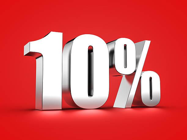 10 percent sign – Foto