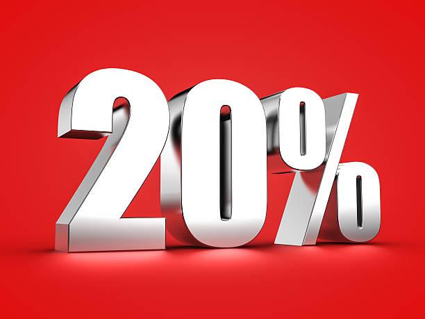20 percent sign – Foto