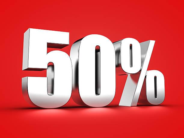 50 percent sign – Foto