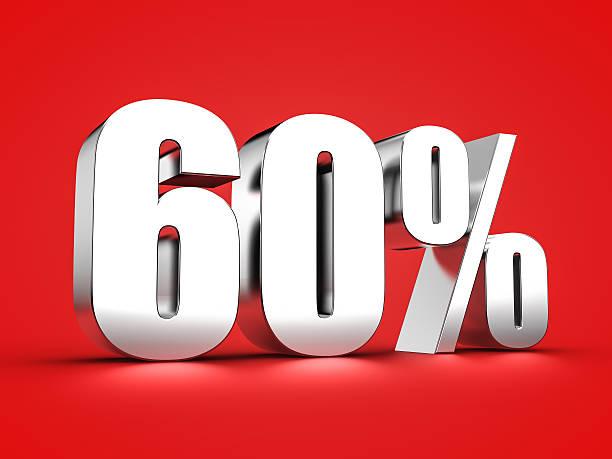 60 percent sign – Foto